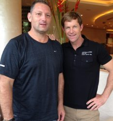 Marc Kahlberg CEO MKISC with Jonty Rhodes at Reliance Group India