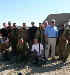 Marc Kahlberg training surveillance techiques with an elite Israel Police unit and US law enforcement officers