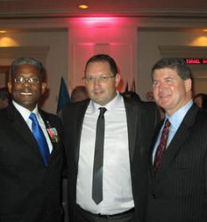 Marc Kahlberg with Congressman Allen West and Chief of Police Mike Downing